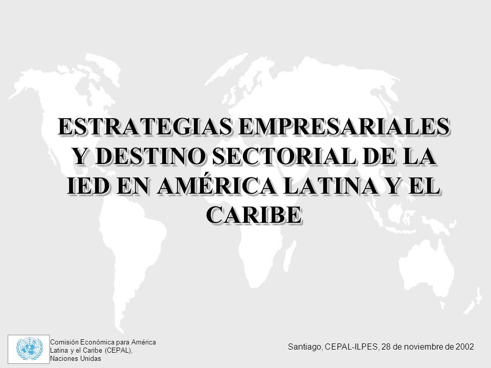 ESTRATEGIAS EMPRESARIALES Y DESTINO SECTORIAL DE LA IED EN AMÉRICA LATINA Y EL CARIBE