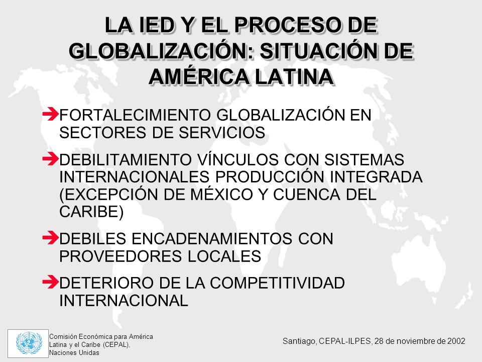 LA IED Y EL PROCESO DE GLOBALIZACIÓN: SITUACIÓN DE AMÉRICA LATINA