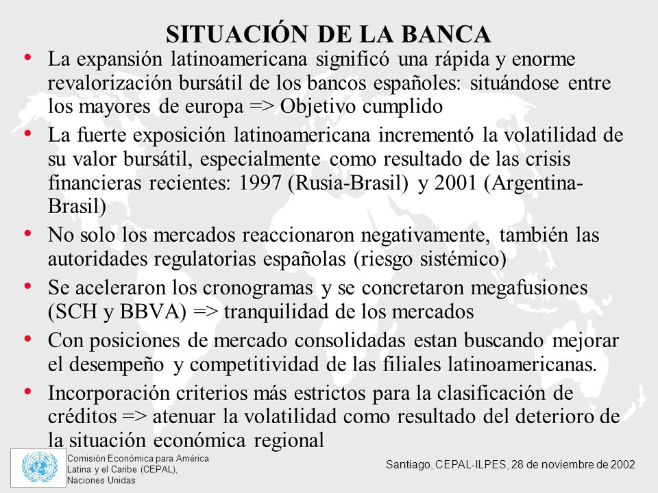 SITUACIÓN DE LA BANCA