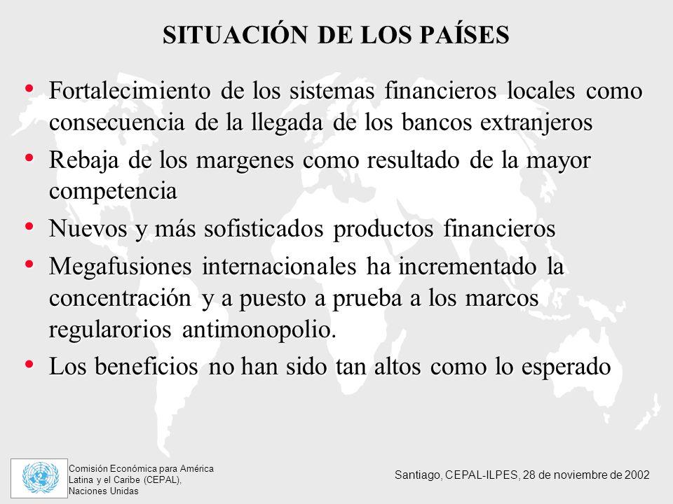 SITUACIÓN DE LOS PAÍSES
