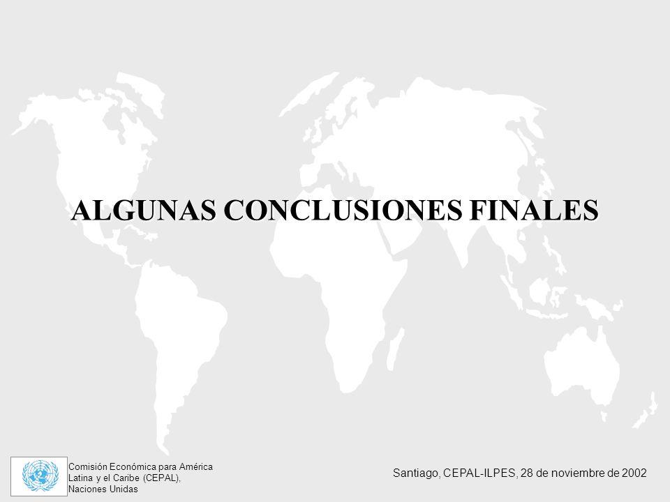 ALGUNAS CONCLUSIONES FINALES