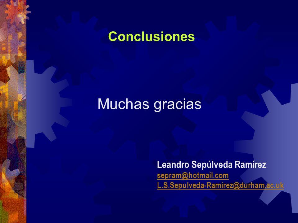 Conclusiones Muchas gracias Leandro Sepúlveda Ramírez