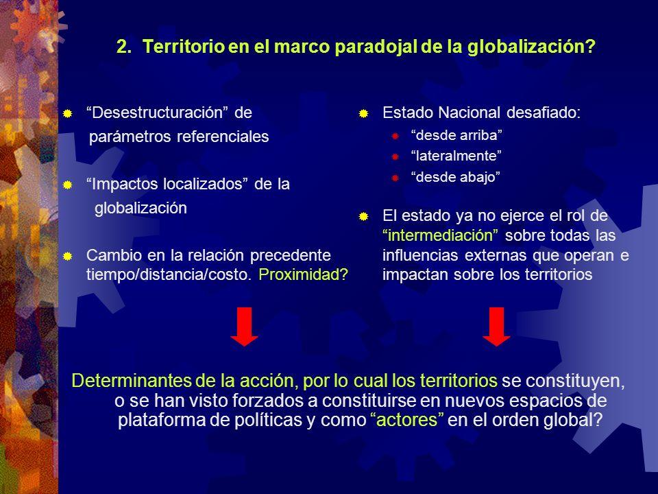 2. Territorio en el marco paradojal de la globalización