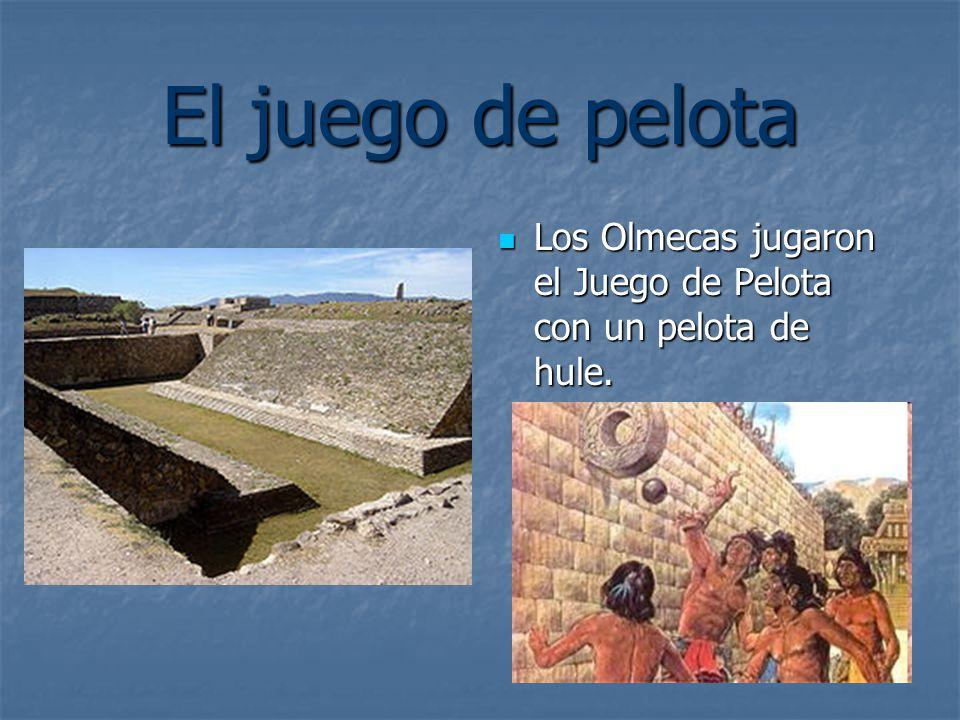El juego de pelota Los Olmecas jugaron el Juego de Pelota con un pelota de hule.