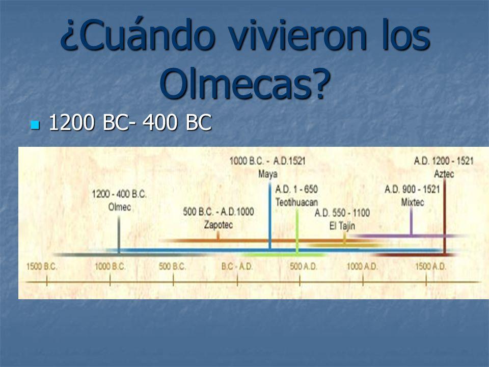 ¿Cuándo vivieron los Olmecas