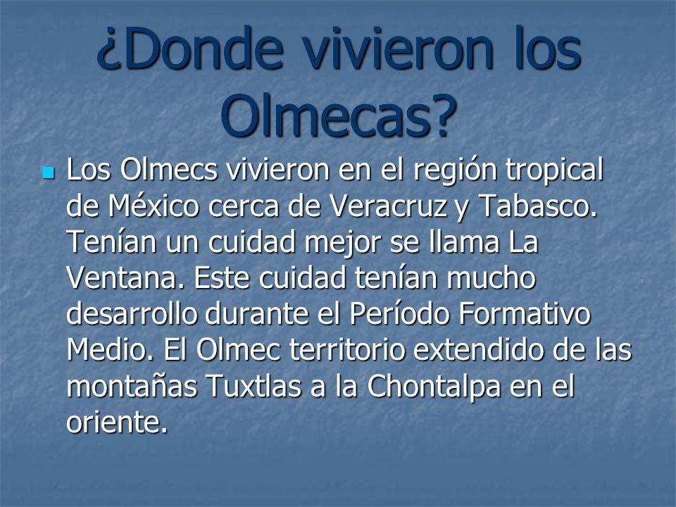 ¿Donde vivieron los Olmecas