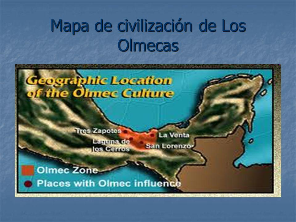 Mapa de civilización de Los Olmecas