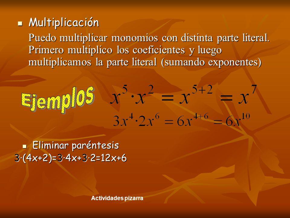 Ejemplos Multiplicación