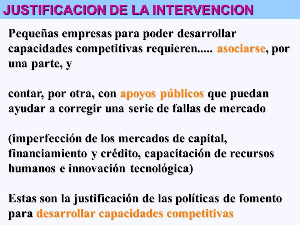 JUSTIFICACION DE LA INTERVENCION