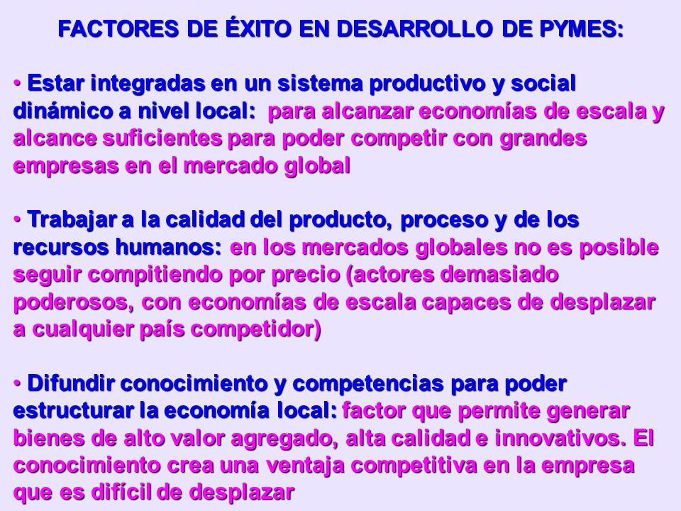 FACTORES DE ÉXITO EN DESARROLLO DE PYMES: