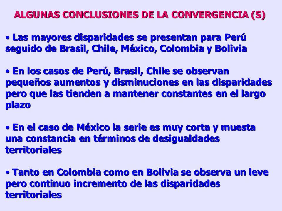 ALGUNAS CONCLUSIONES DE LA CONVERGENCIA (S)