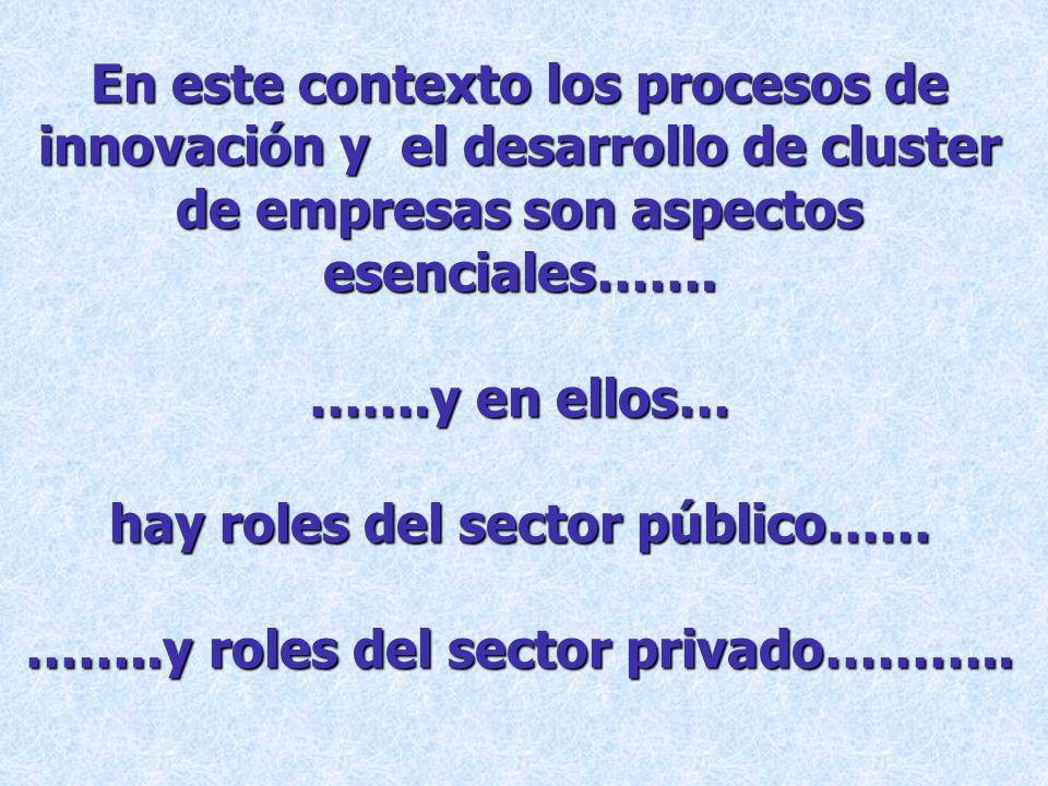 hay roles del sector público…… ……..y roles del sector privado………..