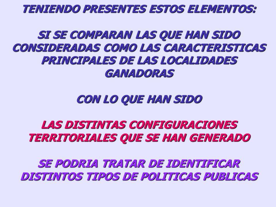TENIENDO PRESENTES ESTOS ELEMENTOS: