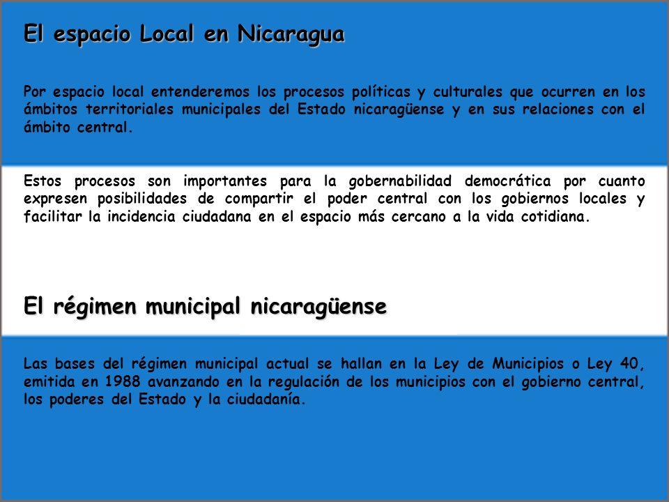 El espacio Local en Nicaragua