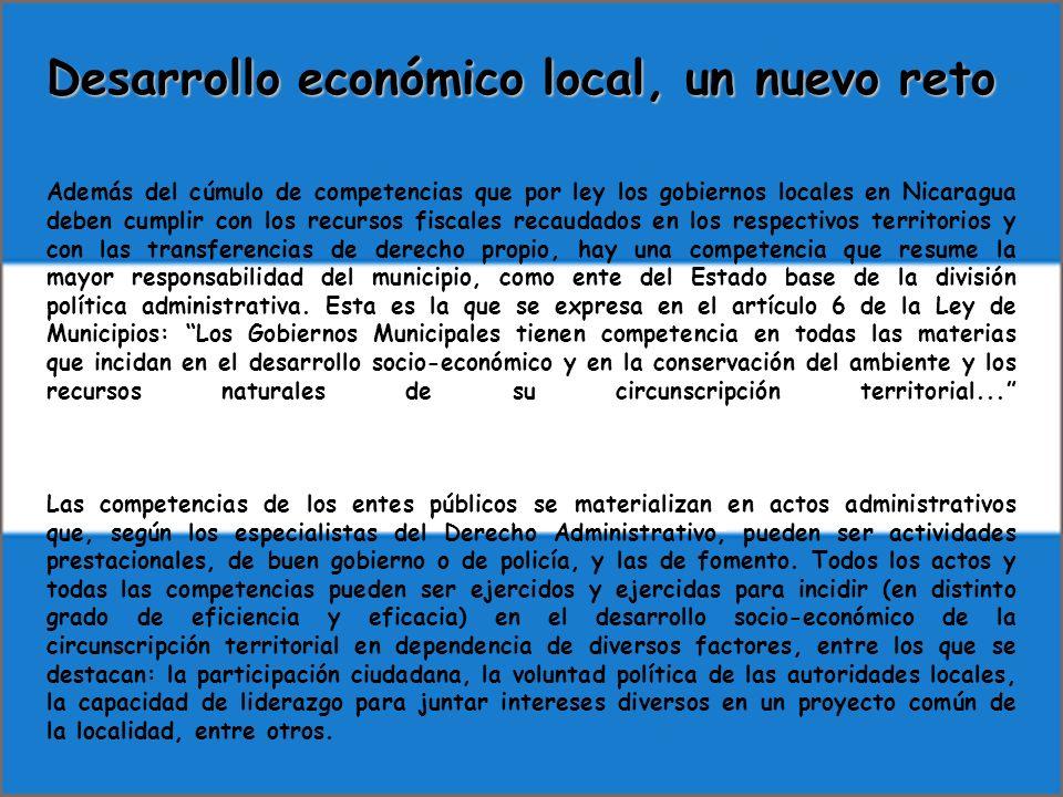 Desarrollo económico local, un nuevo reto