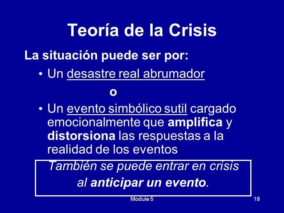 También se puede entrar en crisis