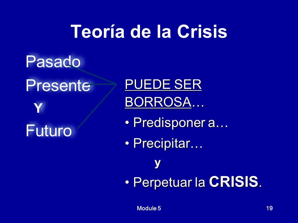 Teoría de la Crisis Pasado Presente Futuro Y PUEDE SER BORROSA…