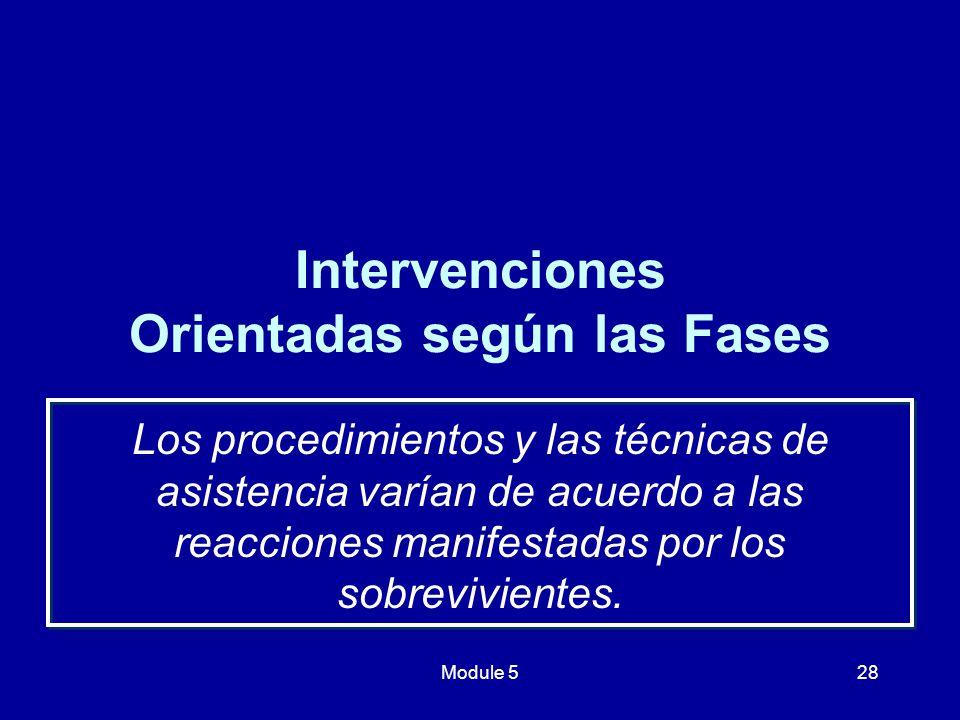 Intervenciones Orientadas según las Fases