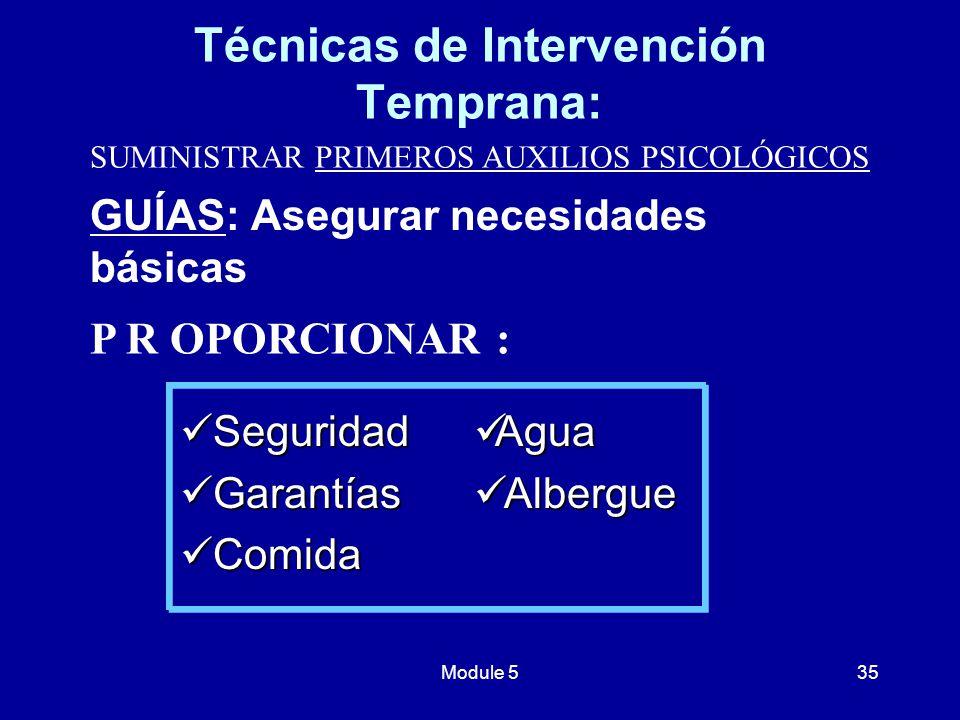 Técnicas de Intervención Temprana: