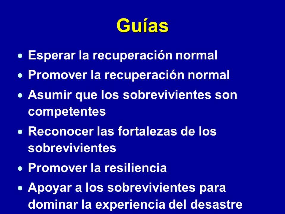 Guías Esperar la recuperación normal Promover la recuperación normal