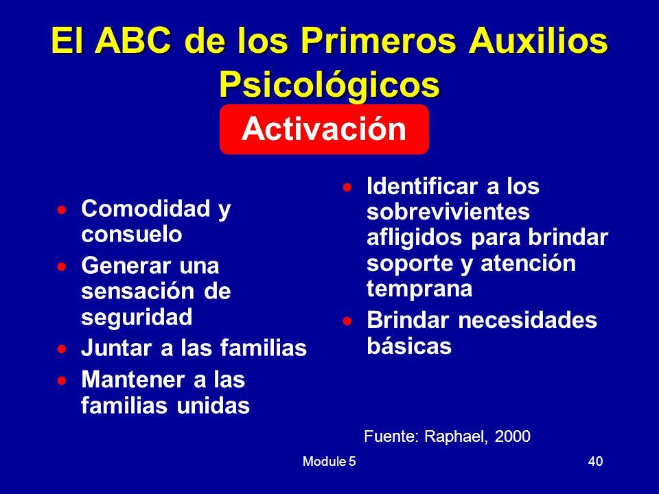 El ABC de los Primeros Auxilios Psicológicos