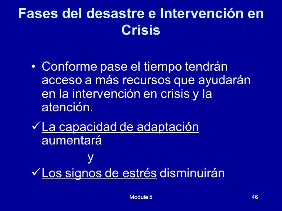 Fases del desastre e Intervención en Crisis