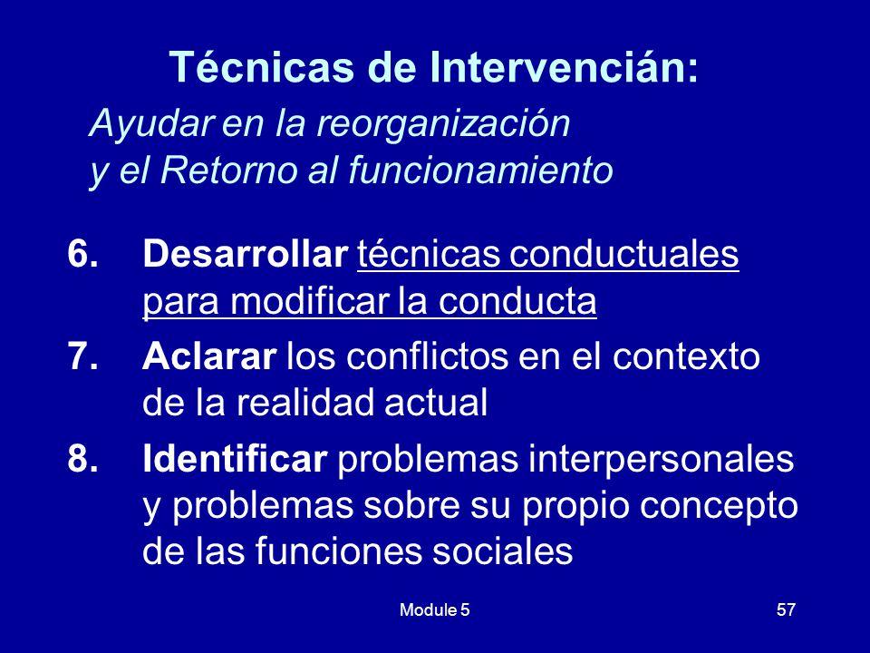 Técnicas de Intervencián: