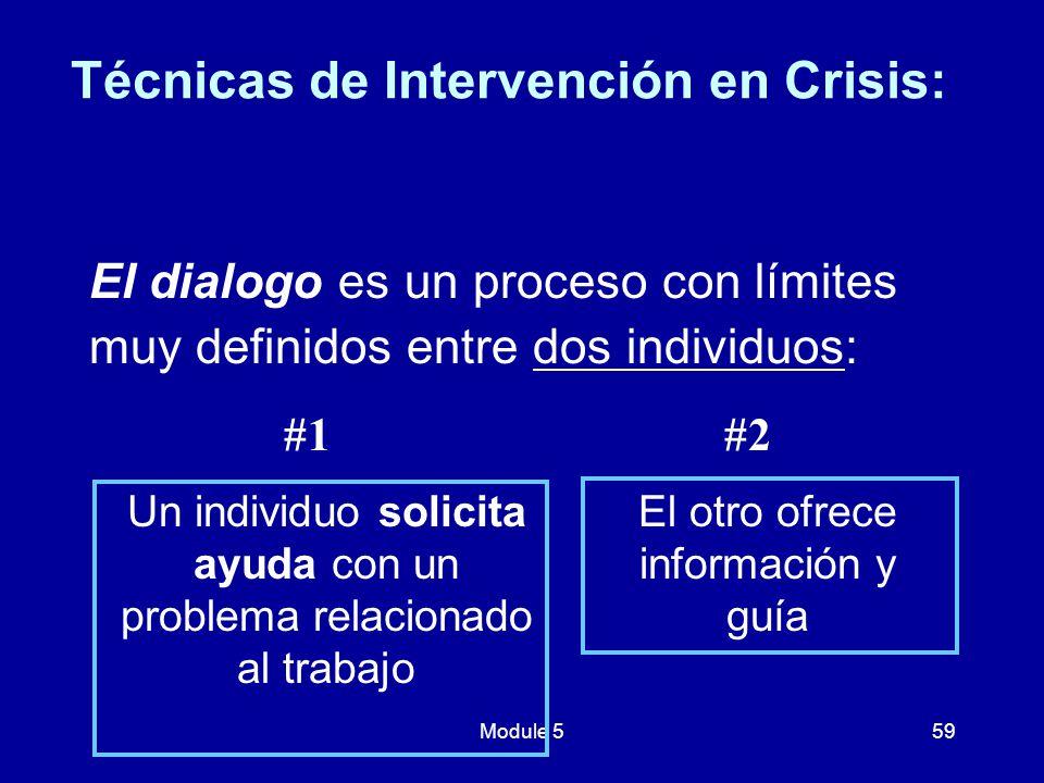 Técnicas de Intervención en Crisis: