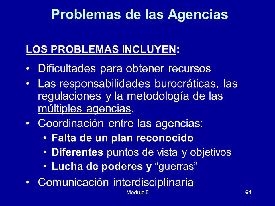 Problemas de las Agencias