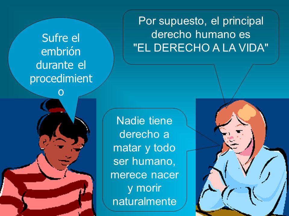 Por supuesto, el principal derecho humano es EL DERECHO A LA VIDA