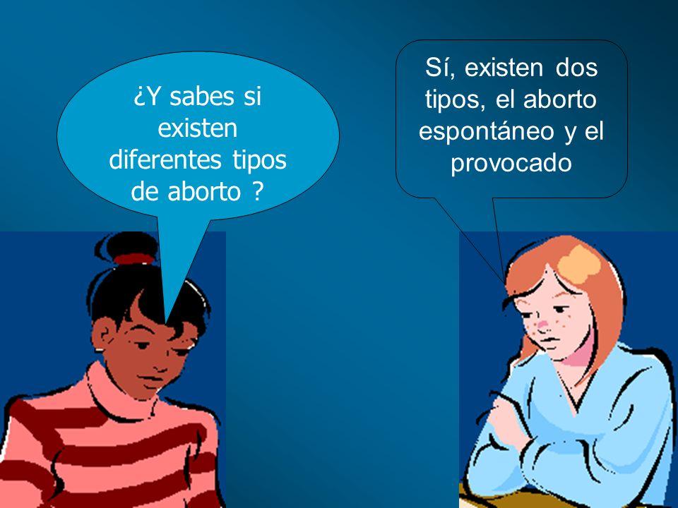 Sí, existen dos tipos, el aborto espontáneo y el provocado