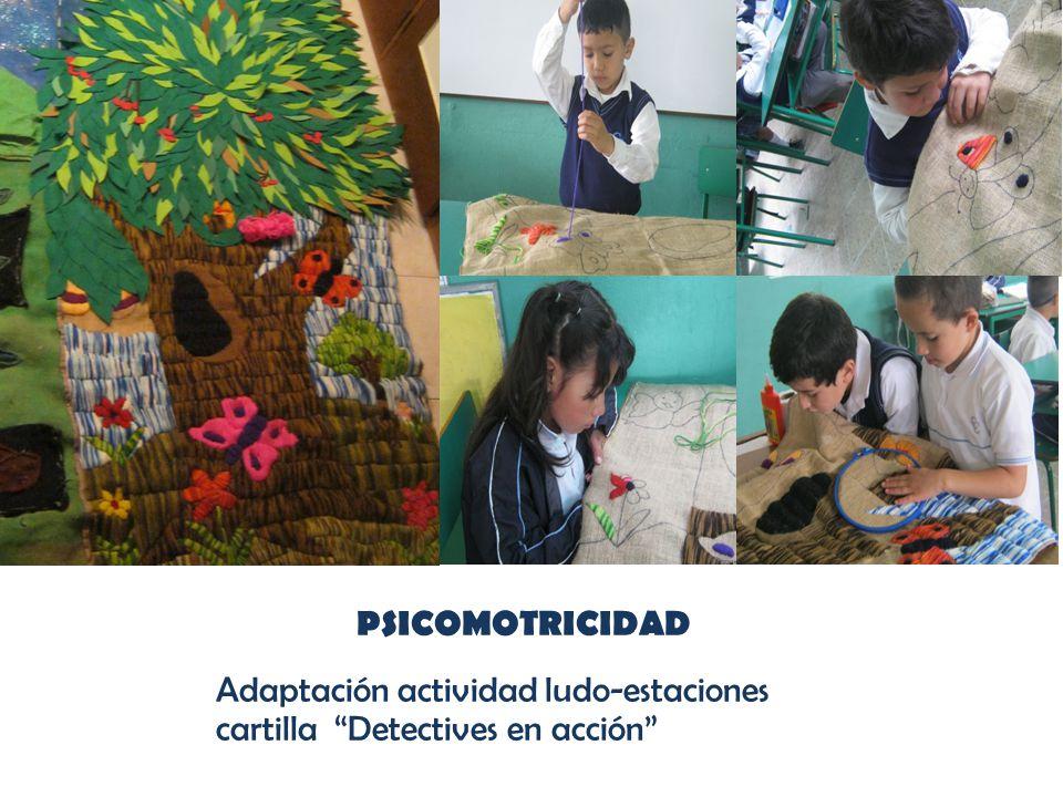 PSICOMOTRICIDAD Adaptación actividad ludo-estaciones cartilla Detectives en acción