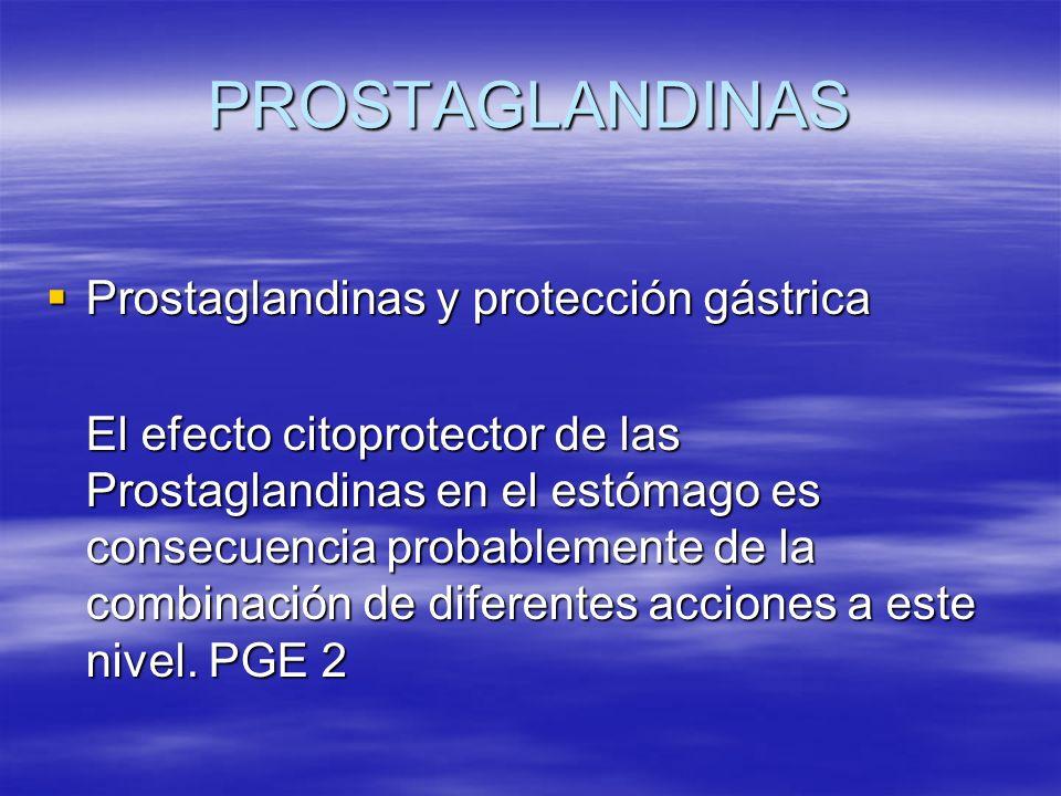 PROSTAGLANDINAS Prostaglandinas y protección gástrica