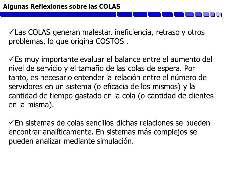 Algunas Reflexiones sobre las COLAS