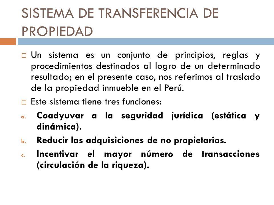 SISTEMA DE TRANSFERENCIA DE PROPIEDAD
