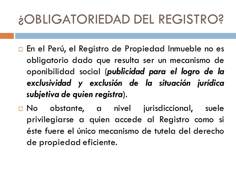 ¿OBLIGATORIEDAD DEL REGISTRO