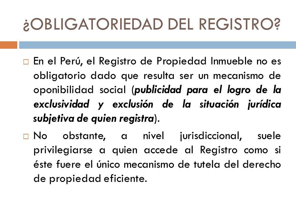 ¿OBLIGATORIEDAD DEL REGISTRO