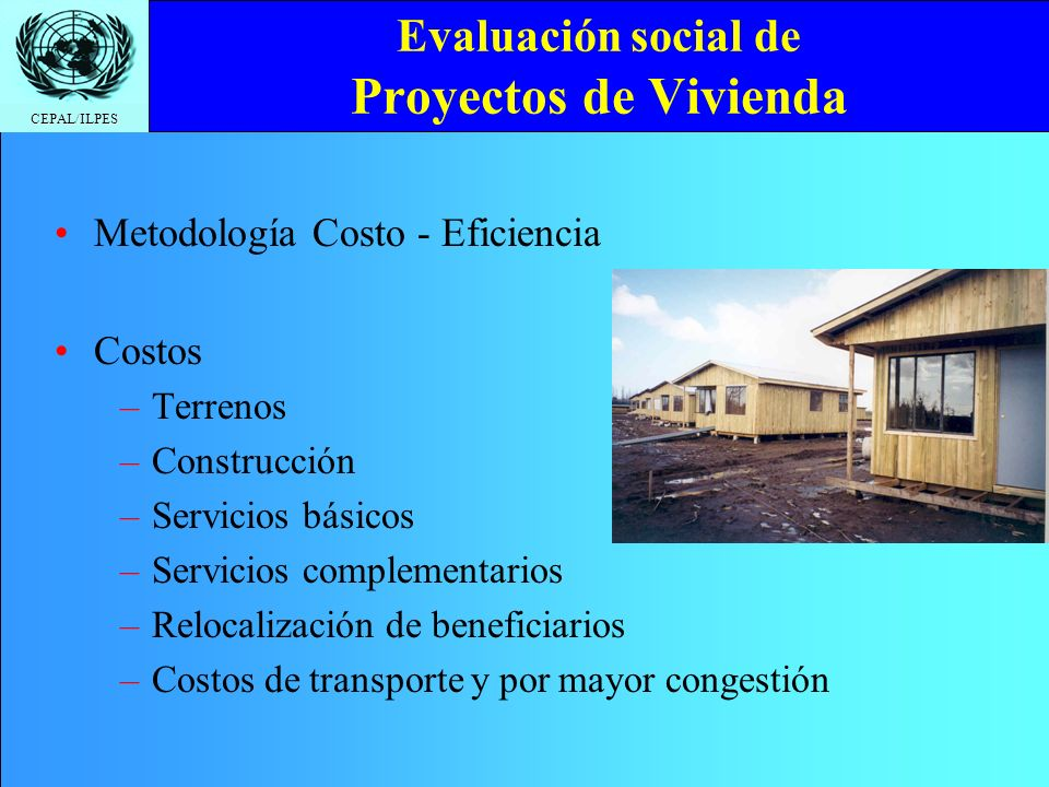 Evaluación social de Proyectos de Vivienda