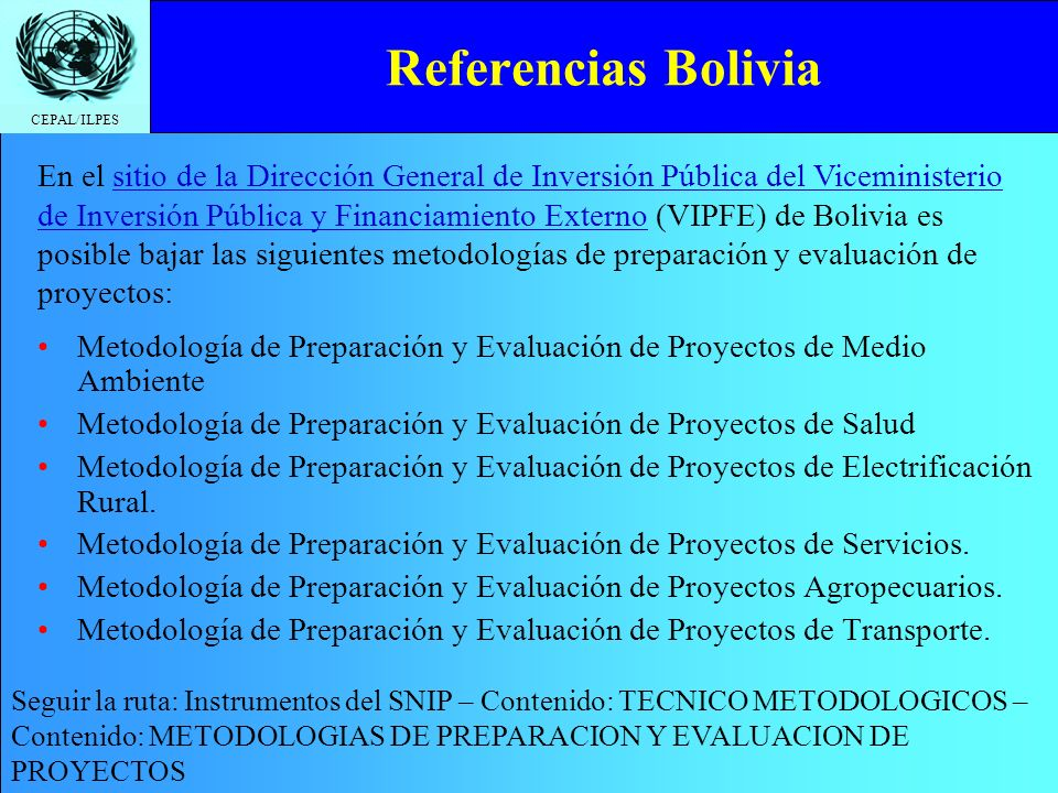 Referencias Bolivia