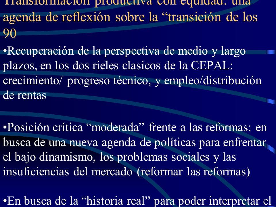 Transformación productiva con equidad: una agenda de reflexión sobre la transición de los 90