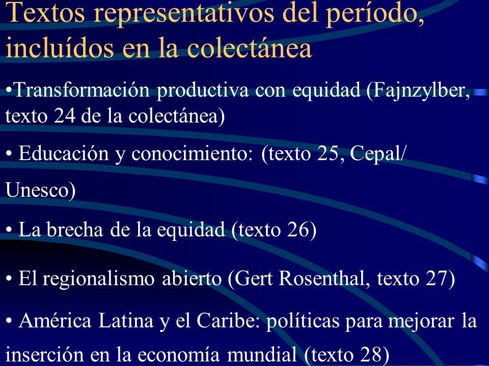 Textos representativos del período, incluídos en la colectánea