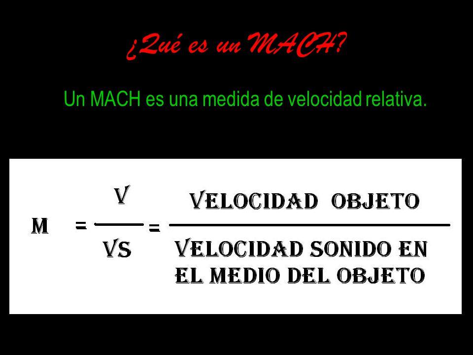 Un MACH es una medida de velocidad relativa.