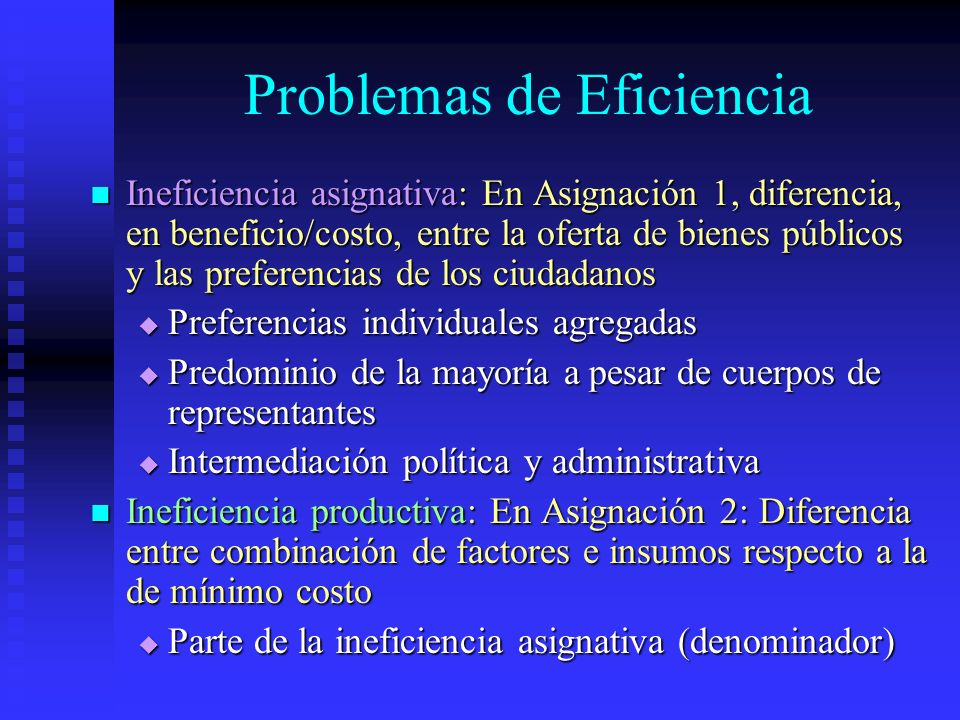Problemas de Eficiencia