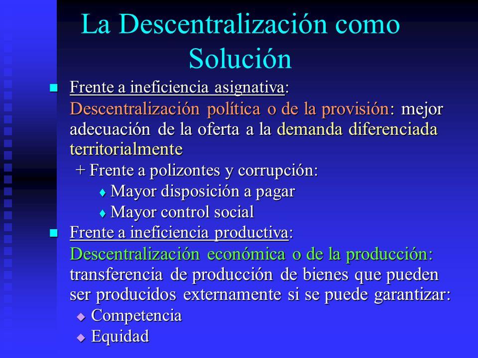 La Descentralización como Solución