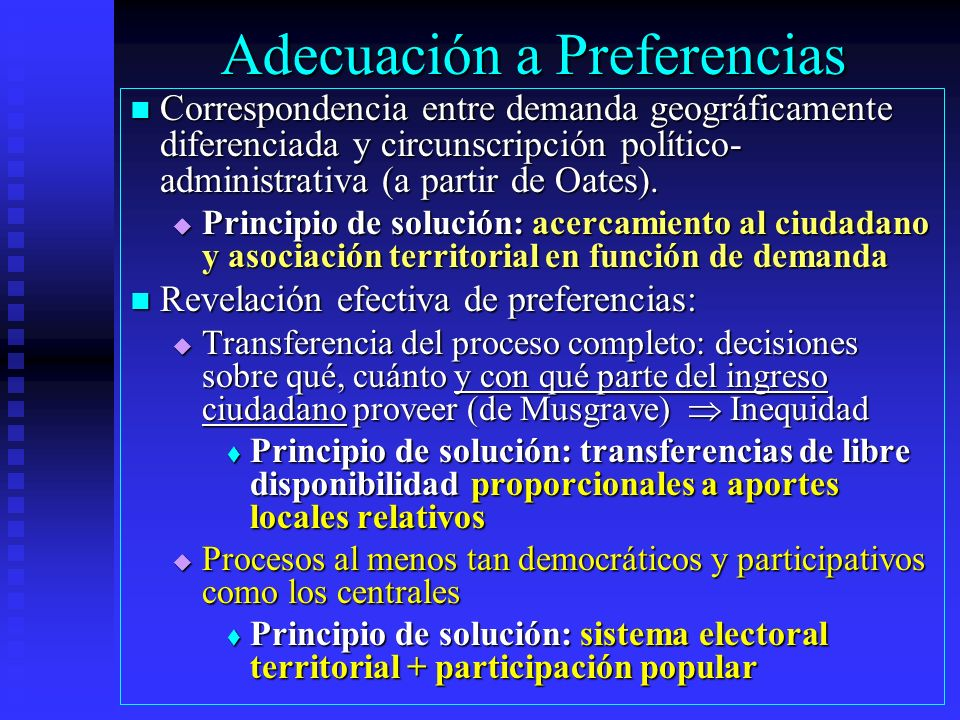 Adecuación a Preferencias