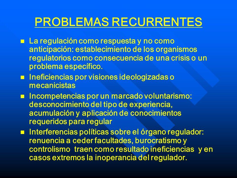 PROBLEMAS RECURRENTES