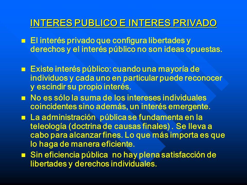 INTERES PUBLICO E INTERES PRIVADO
