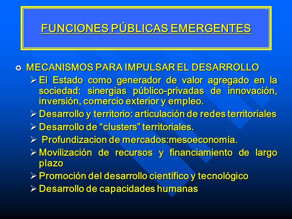 FUNCIONES PÚBLICAS EMERGENTES