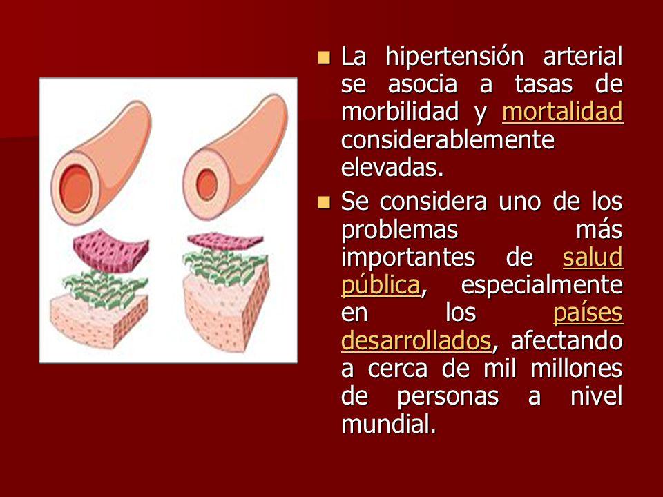 La hipertensión arterial se asocia a tasas de morbilidad y mortalidad considerablemente elevadas.