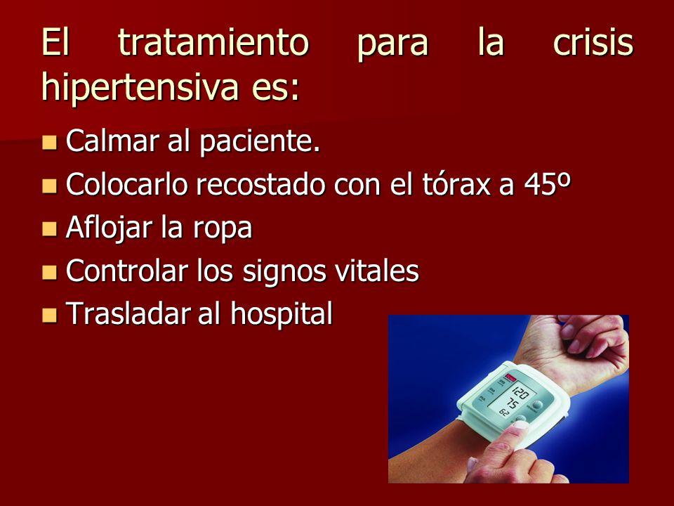 El tratamiento para la crisis hipertensiva es: